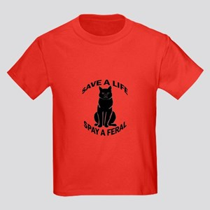 Spay A Feral Kids Dark T-Shirt