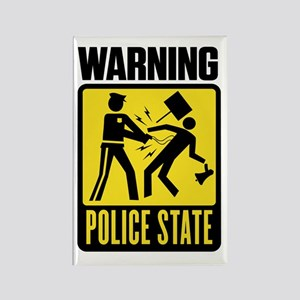 Warning: Police State Rectangle Magnet
