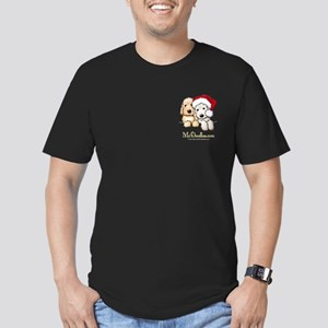 Holiday Pocket Doodle Duo Men's Fitted T-Shirt (da
