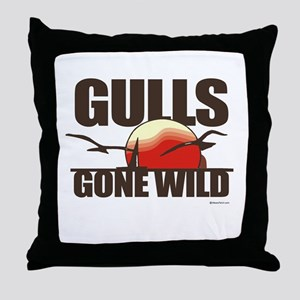 Gulls gone wild ~  Throw Pillow