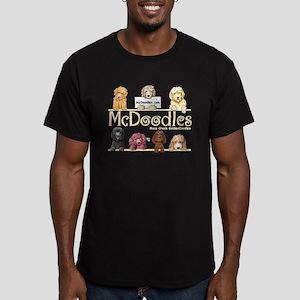 McDoodles Logo Men's Fitted T-Shirt (dark)