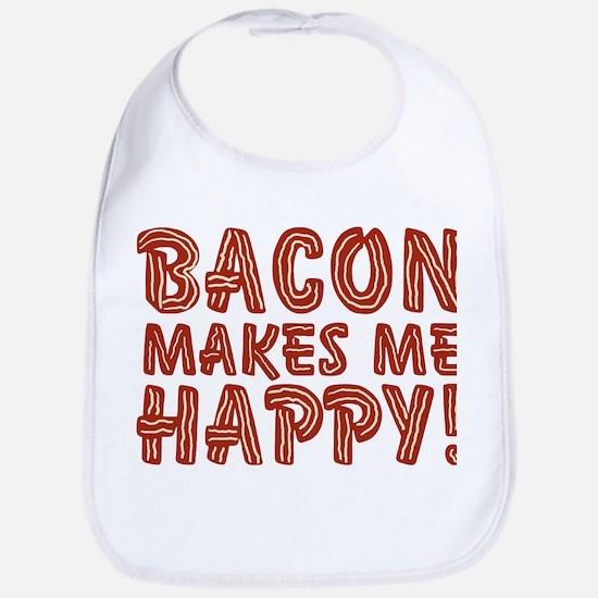 Bacon Makes Me Happy Bib