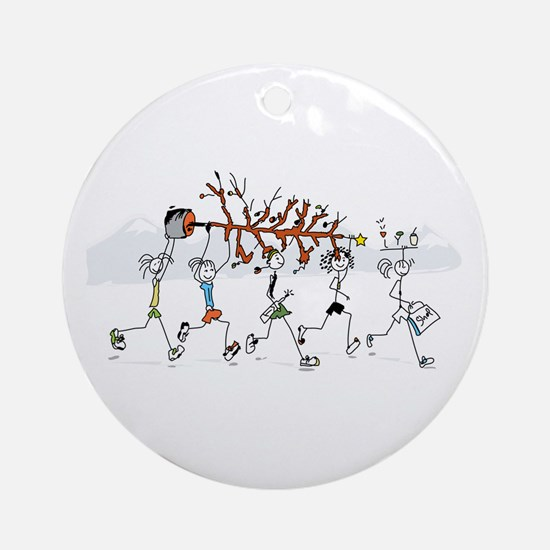 Christmas Runners Ornament (Round)