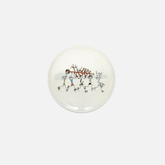 Christmas Runners Mini Button