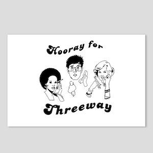 Hooray for threeway ~  Postcards (Package of 8)