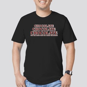 Too Much Chocolate Men's Fitted T-Shirt (dark)