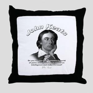 John Keats 01 Throw Pillow