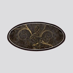 Music, clef wirth floral elements Patch