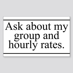 Group Rates Sticker (Rectangle)