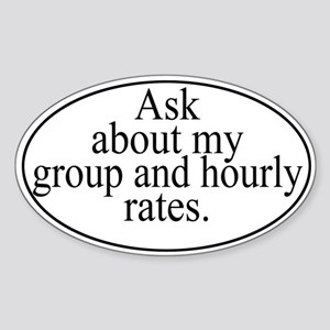 Group Rates Sticker (Oval)