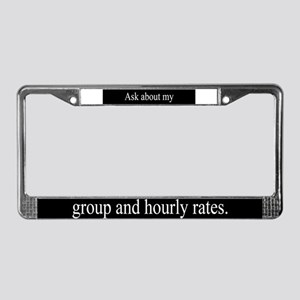 Group Rates License Plate Frame