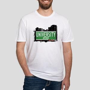 University Av, Bronx, NYC Fitted T-Shirt