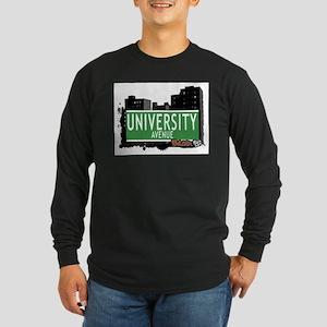 University Av, Bronx, NYC Long Sleeve Dark T-Shirt