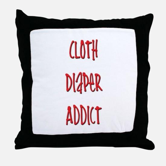 Cloth Diaper Addict Throw Pillow