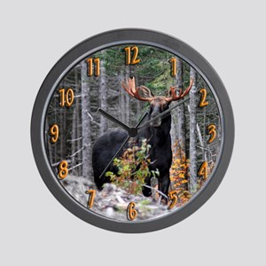 Marty Moose Wall Clock