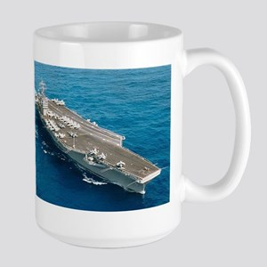 USS Abraham Lincoln Ship's Image Large Mug