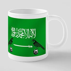 Saudi Arabia Football Flag 20 oz Ceramic Mega Mug