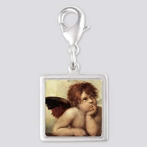 The Sistine Madonna (2nd detail) Silver Square Cha