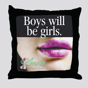 Transgender Girls Throw Pillow
