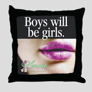 Transgender Girls Throw Pillow