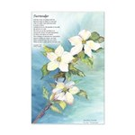 Surrender/Pacific Dogwood Mini Poster Print