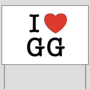 I Heart GG Yard Sign