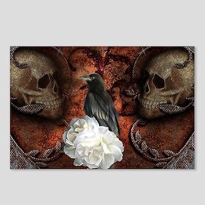 Wonderful crwo with skulls, the dark side Postcard