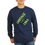 70th Birthday Long Sleeve Dark T-Shirt