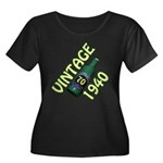 70th Birthday Women's Plus Size Scoop Neck Dark T-
