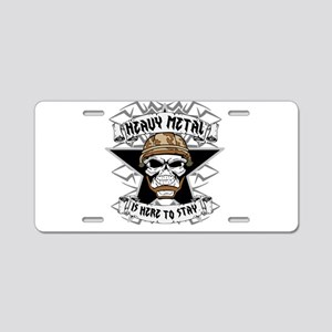 Heavy Metal 2 Aluminum License Plate