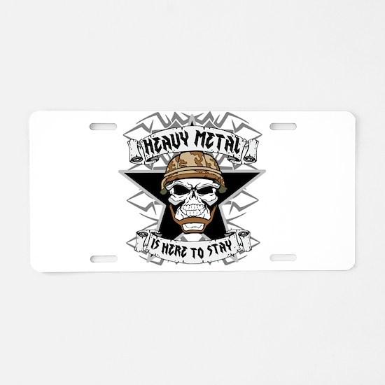 Heavy Metal 2 Aluminum License Plate