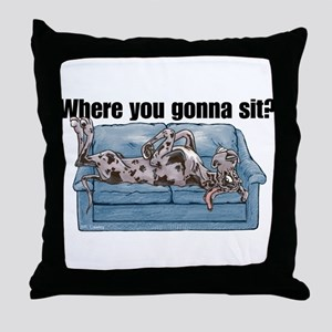 NMrl Where RU Throw Pillow
