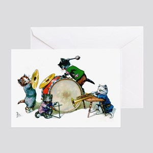 Cool Cats In The Band Greeting Card