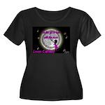 Women's Plus Size Scoop Neck Dark Moon T-Shirt