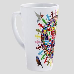 Birders Across The Globe 17 oz Latte Mug