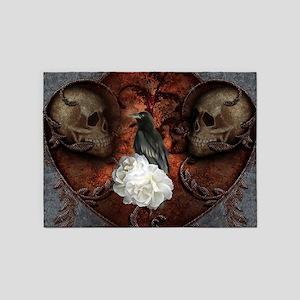 Wonderful crwo with skulls, the dark side 5'x7'Are