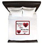 You Can't Buy Love But You Can Adopt It King Duvet