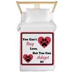You Can't Buy Love But You Can Adopt It Twin Duvet