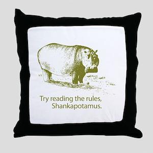 Shankapotamus Throw Pillow