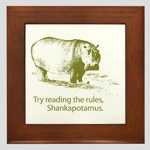 Shankapotamus Framed Tile