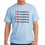I Love Climbing (A lot) Light T-Shirt