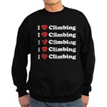 I Love Climbing (A lot) Sweatshirt (dark)