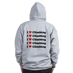 I Love Climbing (A lot) Zip Hoodie