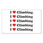 I Love Climbing (A lot) Rectangle Sticker