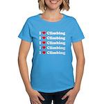 I Love Climbing (A lot) Women's Dark T-Shirt