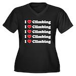 I Love Climbing (A lot) Women's Plus Size V-Neck D