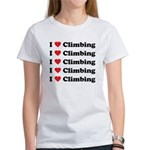 I Love Climbing (A lot) Women's T-Shirt