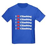 I Love Climbing (A lot) Kids Dark T-Shirt