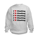 I Love Climbing (A lot) Kids Sweatshirt