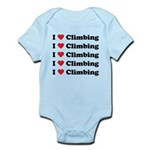 I Love Climbing (A lot) Infant Bodysuit